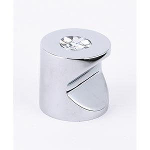Contemporary Polished Chrome 1-Inch Crystal Knob