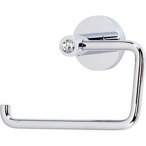 Contemporary I Crystal Polished Chrome Single Post Tissue Holder