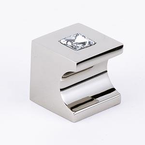 Contemporary II Polished Nickel 1-Inch Crystal Knob