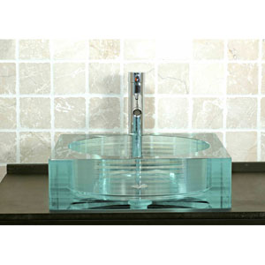GS-107 Square Glass Vessel Sink