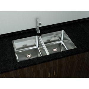 Kitchen Series Steel 32-Inch Double Bowl Undermount Sink