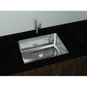 Kitchen Series Steel 10.25-Inch Single Bowl Undermount Sink