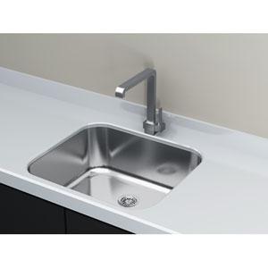 Kitchen Series Steel 18-Inch Single Bowl Undermount Sink