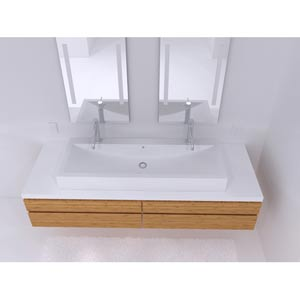 Cast Polymer Large Vessel Sink