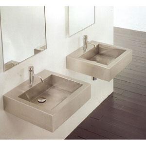 MS-005 Square Stainless Steel Wall Mounted Sink