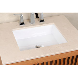 Vitreous China Undermount Rectangle Sink