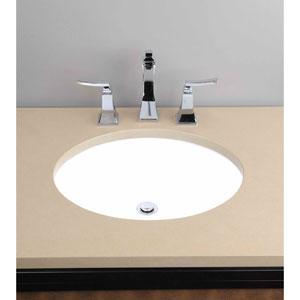 Vitreous China Undermount Oval Sink