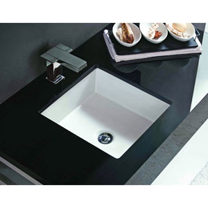 Vitreous China Undermount Square Sink