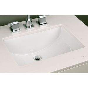 Vitreous China Undermount Rectangular Sink