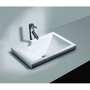 Vitreous China Semi-Recessed Sink