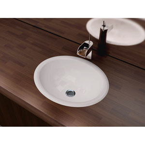 Vitreous China Series White and Glossy 7.25-Inch Drop-In Bathroom Sink