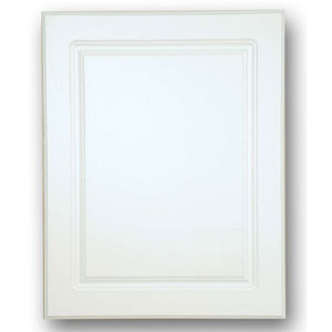 White 16-Inch x 20-Inch Raised Panel Steel Body Medicine Cabinet