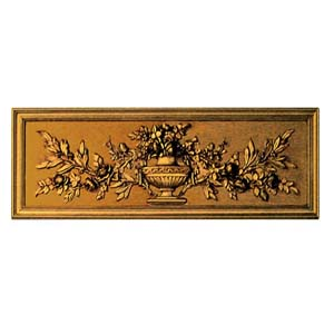 French Carved Floral Plaque