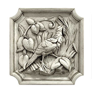 Old World White Pheasant Plaque- Left