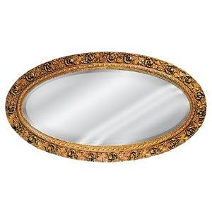 Bronze Serpentine Oval Mirror