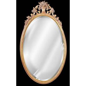 Flower Basket Beveled Mirror