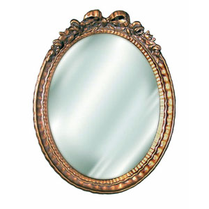 Antique Gold 12-Inch Bow Mirror