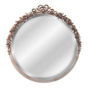 Round Rose Beveled Mirror