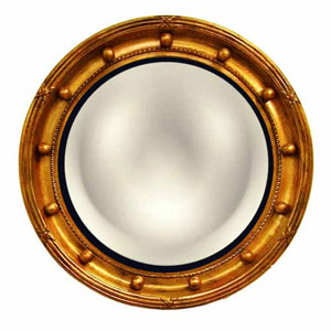 Regency Convex Gold Wash Mirror