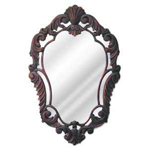 French Baroque Curved Flat Mirror