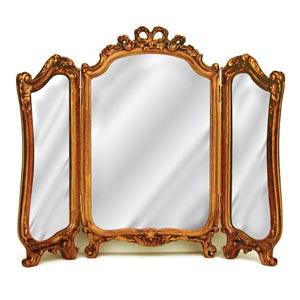 Bronze Tri Fold Vanity Mirror