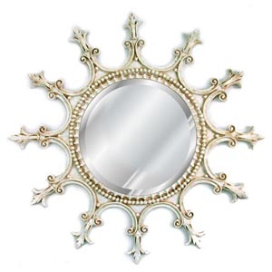 Provincial Scalloped Beveled Mirror