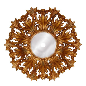 Baroque Ornate French Mirrored Ceiling Medallion
