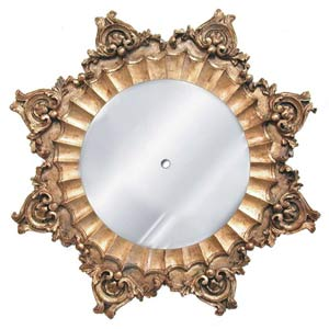 Baroque Ornate Scalloped Mirrored Ceiling Medallion