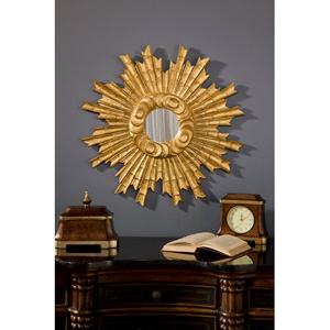 25-Inch Padrone Gold Leaf Mirror