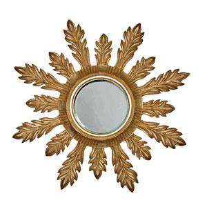 Solare 29-Inch Antique Gold Mirror