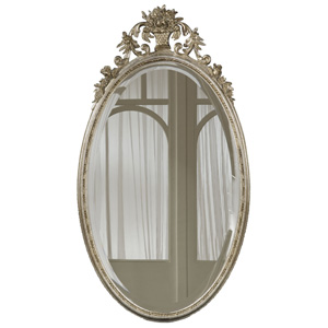 Oval Flower Basket Shimmer Mirror