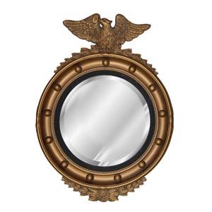 Regency Eagle Antique Gold Beveled Mirror