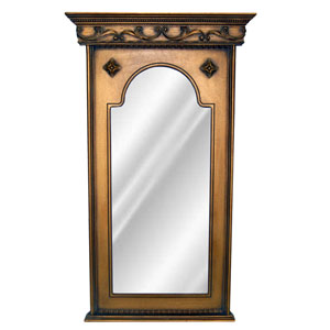 Antique Gold Sterling Mirror