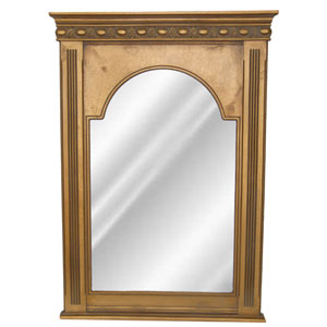 Antique Gold Beaded Dart Mirror