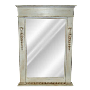 Old World White Classic Vanity Mirror
