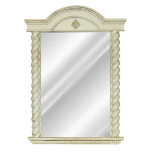 Old World White Vanity Mirror