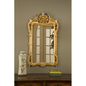 Flourishing Gold Leaf Mirror