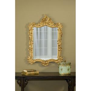 Ornate English Gold Leaf Mirror