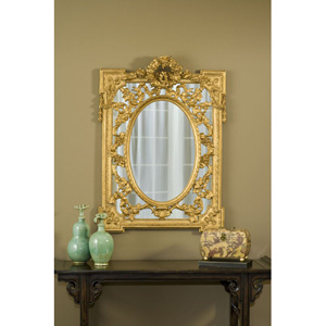 Grandeur Gold Leaf Mirror