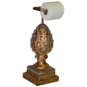 Ornate Standing Pineapple Toilet Paper Holder
