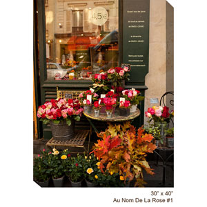 Flower Shop #1 V: 30 x 40 All Weather Outdoor Photograph Canvas Giclee