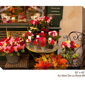 Flower Shop #9 H: 40 x 30 All Weather Outdoor Photograph Canvas Giclee