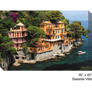 Seaside Villa: 40 x 30 All Weather Outdoor Photograph Canvas Giclee