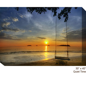 Quiet Time: 40 x 30 All Weather Outdoor Photograph Canvas Giclee