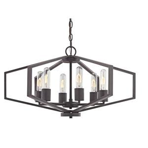 dolan designs hexagon satin nickel 26 inch six light chandelier 1145