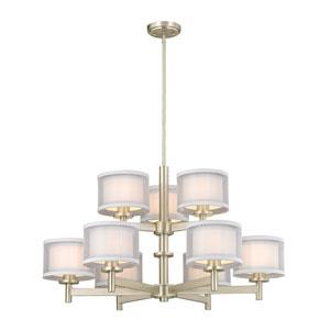 Double Organza Satin Nickel Nine-Light chandelier