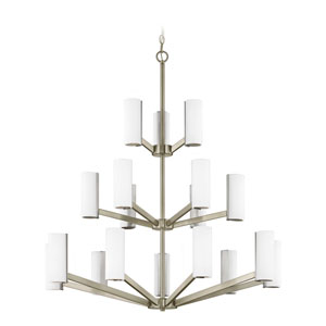 Radiance Satin Nickel 18-Light LED Chandelier