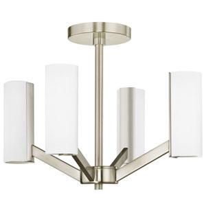 Radiance Satin Nickel 4-Light LED Semi-Flush Mount