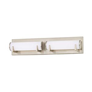Madison Satin Nickel Two-Light LED Bath Light