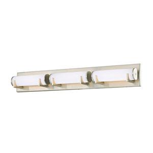 Madison Satin Nickel Three-Light LED Bath Light